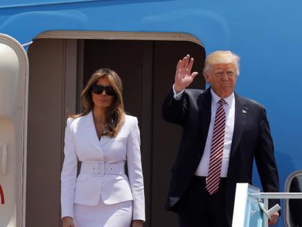 הנשיא טראמפ נחת בישראל (צילום: חדשות 2)