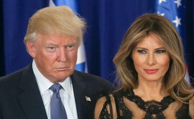 מלאניה ודונלד טראמפ (צילום: חדשות 2)