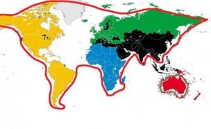 מפת העולם נראית כמו חתול (צילום: יחסי ציבור)
