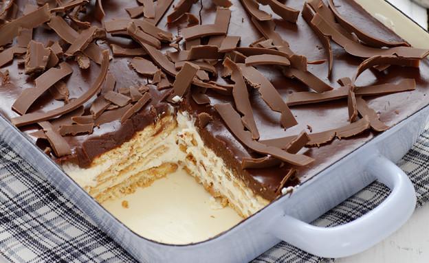 עוגת ביסקוויטים גבינה ושוקולד (צילום: נטלי לוין, עוגיו.נט)
