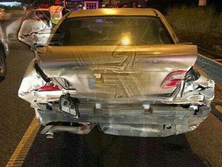 הרכב לאחר התאונה