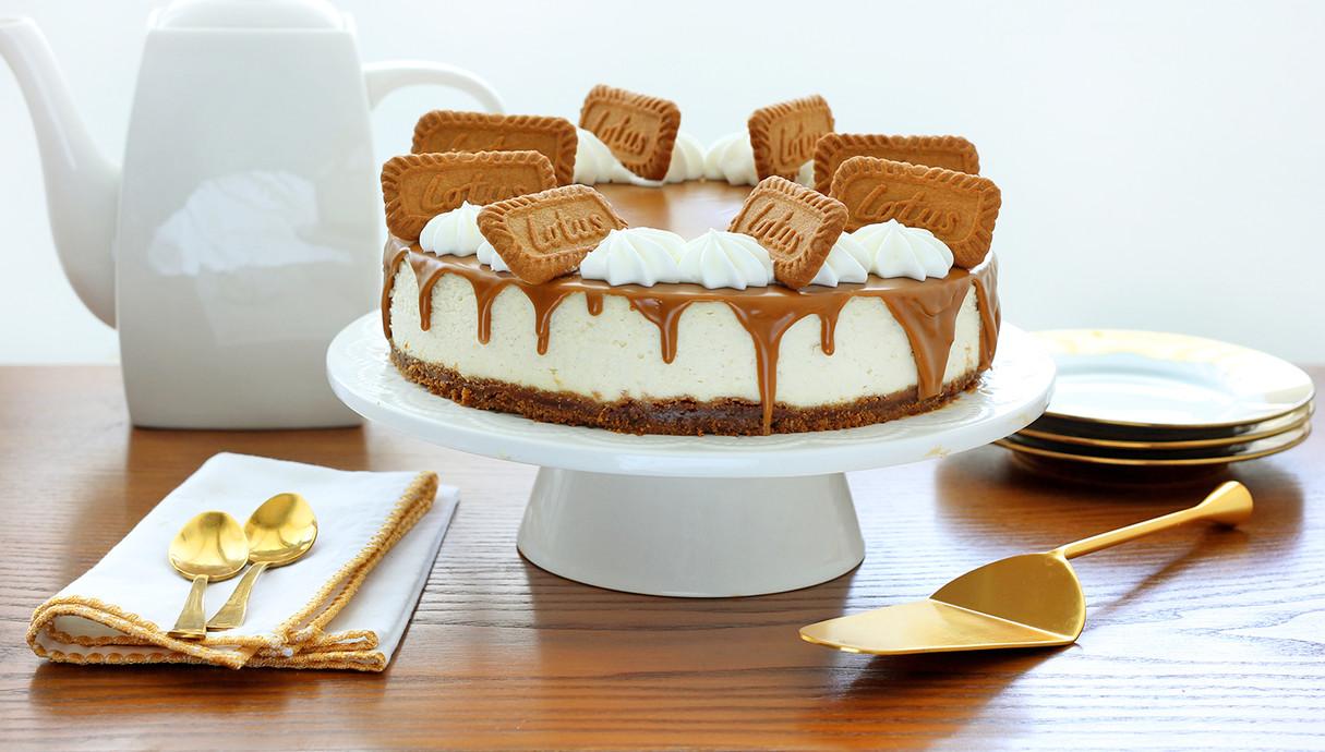 עוגת גבינה ניו יורק עם לוטוס