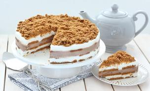 עוגת ביסקוויטים עם גבינה ולוטוס (צילום: ענבל לביא, אוכל טוב)