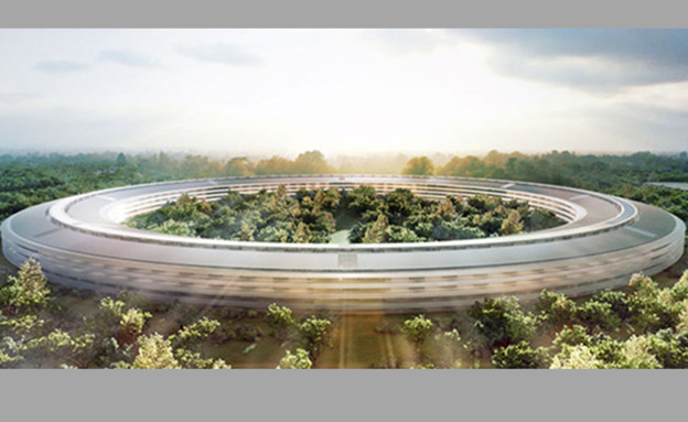 """קמפוס חדש של אפל בקופרטינו, ארה""""ב (cupertino.org) (צילום: צילום מסך)"""