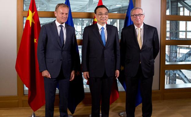 ראש הממשלה הסיני ובכירי האיחוד האירופי. (צילום: רויטרס)
