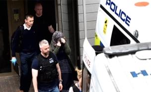 גל מעצרים בבריטניה (צילום: חדשות 2)