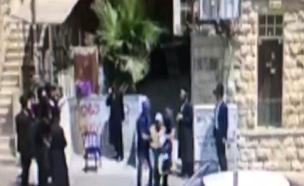 """תיעוד מעצרו של החשוד בירושלים (צילום: """"מרכז הצלה"""")"""