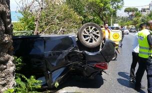 """זירת התאונה, היום (צילום: תיעוד מבצעי מד""""א)"""