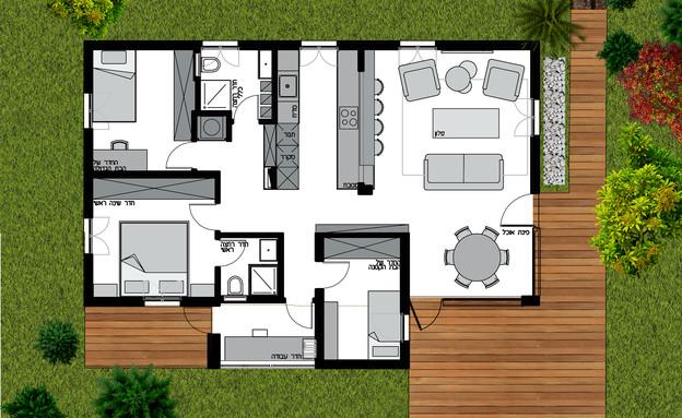 סטודיו וי, תכנית (הדמיה: צילום ביתי)