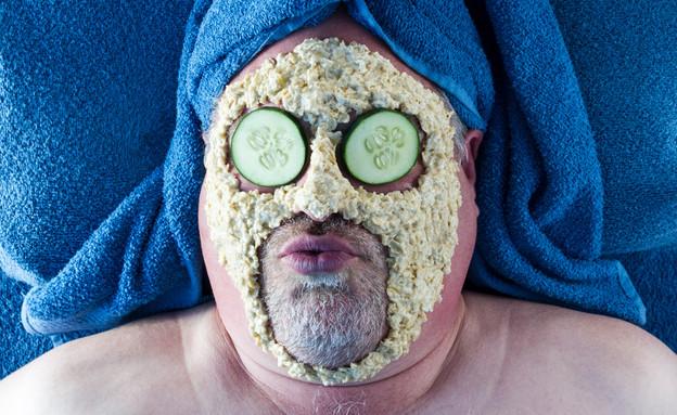 מסכת פנים מלפפון (צילום: Kris Black, Shutterstock)
