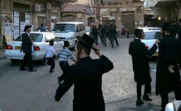 מחאה במאה שערים (ארכיון) (צילום: אריאל פינדר, חדשות 24)