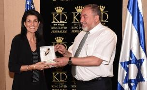 ליברמן וניקי היילי (צילום: דנה שרגא/משרד הביטחון)