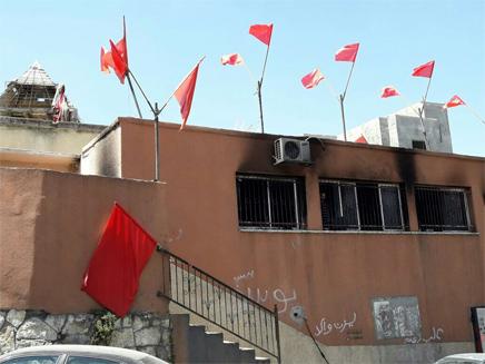 המשרדים שהוצתו (צילום: דוברות משטרה)