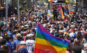 מצעד הגאווה בחיפה 2016 (צילום: ניר בלזצקי – דוברות עיריית חיפה)