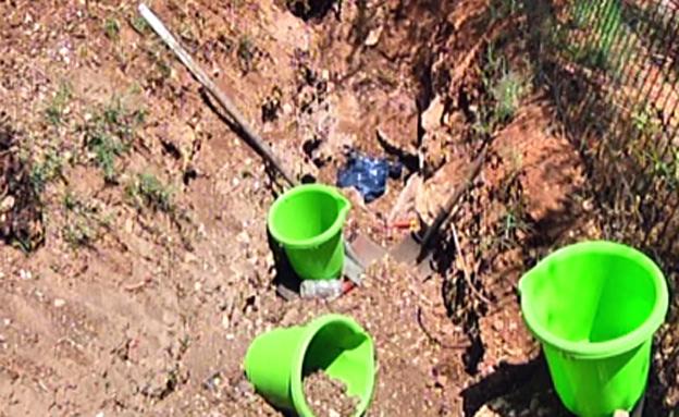 """הגינה בה נקבר מרציאנו ז""""ל (צילום: חדשות 2)"""