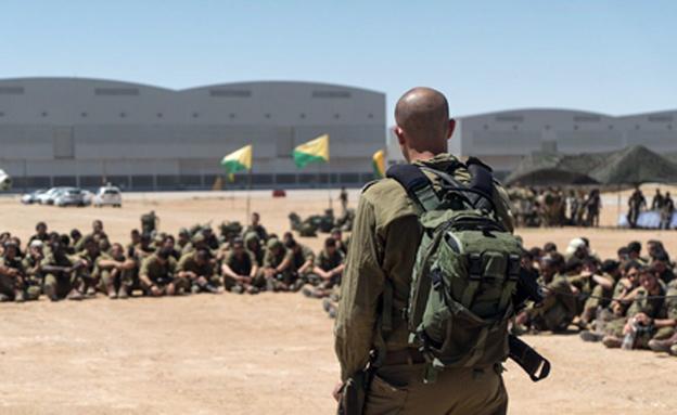 """בתרגיל השתתפו כ-500 חיילים מיחידת אגוז (צילום: דובר צה""""ל)"""