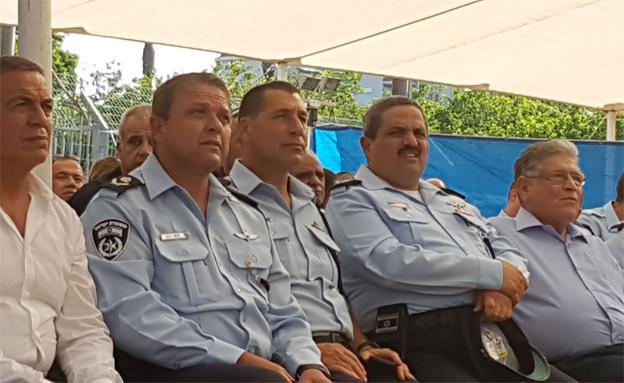 צמרת המשטרה בטקס (צילום: חדשות 22)
