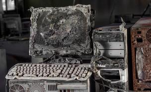 מחשב שרוף (צילום: ShutterStock)