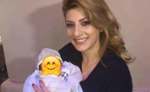 שרית חדד והתינוק (צילום:  Photo by Flash90)