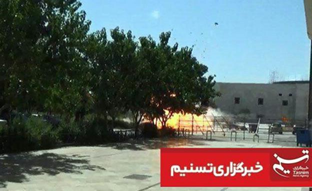 הפיצוץ במתחם קבר חומייני (צילום: סוכנות הידיעות תסנים)