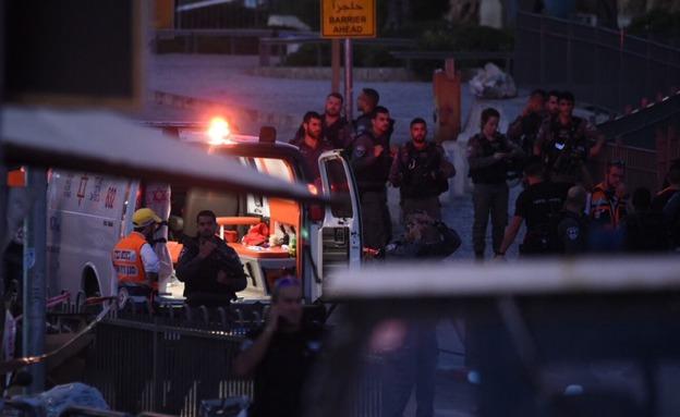 זירת הפיגוע (צילום: קובי ריכטר/TPS)
