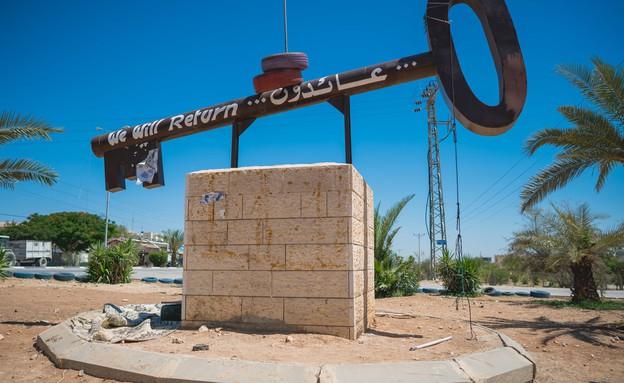 אנדרטת מפתח למחנה הפליטים שבעיר (צילום: אילן ספירא)