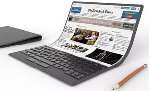 הדמיית מחשב נייד גמיש של לנובו (הדמיה: Lenovo,  יחסי ציבור )