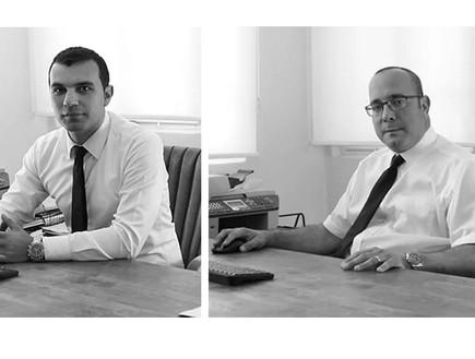 עורכי הדין דן אסלנוב ומיכאל כרמל