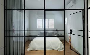 חדר שינה (צילום: גדעון לוין, עיצוב סטודיו XS)