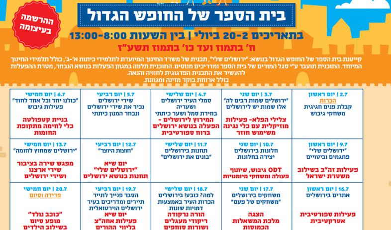 קייטנת משרד החינוך בסימן ירושלים (איור: יחסי ציבור)