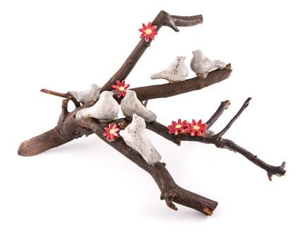 ענפים - ענף עם ציפורי קרמיקה