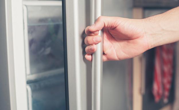 דלת מקרר נפתחת (צילום: Lolostock, Shutterstock)
