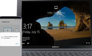 פתיחת נעילה של מחשב Windows 10 עם Samsung Flow (הדמיה: סמסונג)
