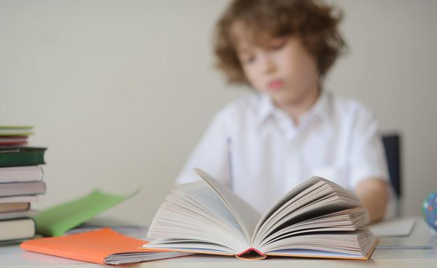אילוסטרציה- ילד וספר (צילום: unguryanu, Shutterstock)