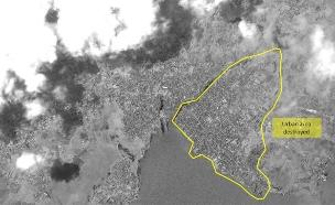 כך נראה ההרס מהלוויין (צילום: imagesat)