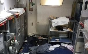 המטוס לאחר המהומה (צילום: FBI)