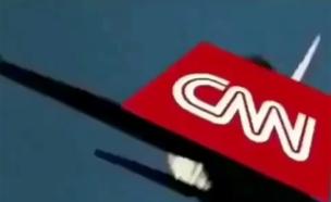 """טראמפ """"מפגיז"""" את CNN (צילום: טוויטר)"""