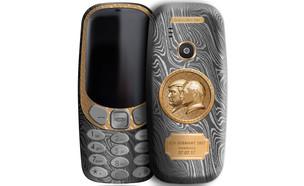 נוקיה 3310 מצופה טיטניום עם דיוקן מווזהב (הדמיה: יחסי ציבור)