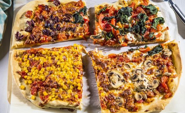 פיצה משפחתית (צילום: אפיק גבאי, מתכון לחיסכון)
