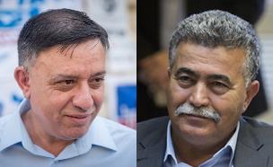 עמיר פרץ ואבי גבאי (צילום: חדשות 2)