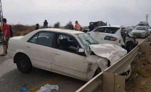 """זירת התאונה באורנית (צילום: תיעוד מבצעי מד""""א)"""
