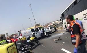 זירת התאונה, היום (צילום: תיעוד מבצעי מדא)