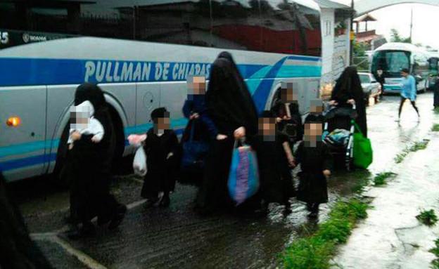 חברי הכת חוזרים ממקסיקו לגוואטמלה (צילום: צילום פרטי)