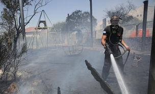השריפה בבית אל (צילום: TPS)