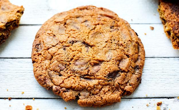 עוגיית שוקולד צ'יפס קראנצ'ית (צילום: אמיר מנחם, אוכל טוב)