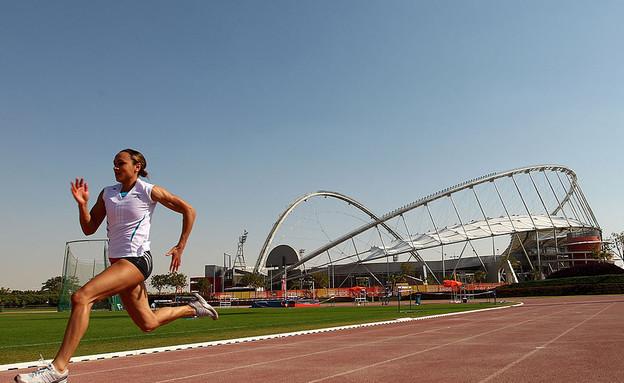 אימוני ריצה באיצטדיון בקטאר (צילום: Michael Steele, GettyImages IL)