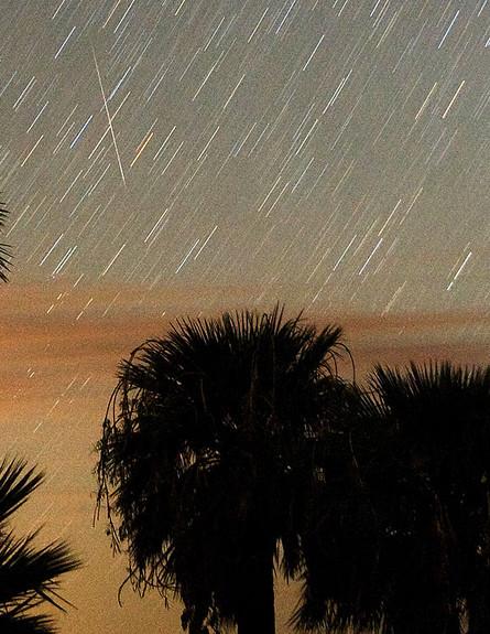 גשם של מטאורים בנוואדה (צילום: Ethan Miller, GettyImages IL)