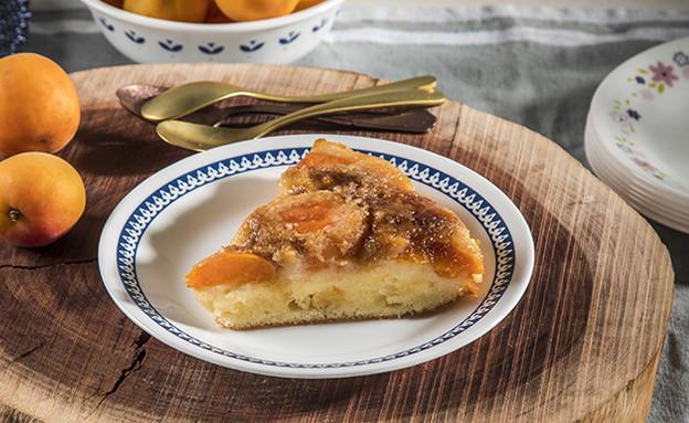 עוגת פירות הפוכה (צילום: אפיק גבאי, מתכון לחיסכון)