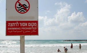 חוף אסור לרחצה (צילום: גילי יערי, פלאש 90)