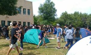 תלמידים בטיול שנתי (צילום: עדי שוב)